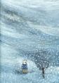 Lundi - Anne Herbauts - Casterman - 2004. Dans cet album, la matière autant que les illustrations et le texte participent à la narration. Les transparences dues au grammage du papier, de plus en plus fin, permettent des projections symboliques : voir ce qui s'est passé et ce qui est à venir. Le temps qui passe et les cycles de la vie sont également exprimés par la musique des mots du texte. Les pages blanches en fin d'album racontent la disparition du personnage, Lundi. La neige l'a recouvert. Et pourtant, il est toujours là, invisible mais là quand même. On le devine, on le sent au toucher de la feuille de papier. Puis un autre Lundi apparaît, un peu différent. L'histoire se poursuit tandis que la métaphore autorise l'accès à un propos plus grave, allégé par  l'expérience esthétique qu'offre l'album.